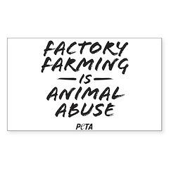 Factory Farming Sticker (rectangle)
