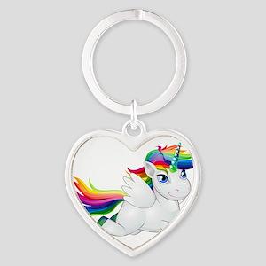 Cute_Rainbow_Pony__Clip_Art_Image Keychains