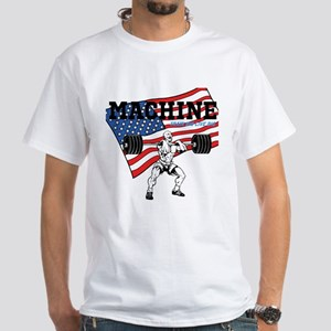 MACHINE US FLAG White T-Shirt