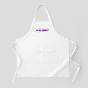 Purple Adopt BBQ Apron