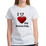 I Love My Rescue Dog Women's T-Shirt