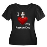 I Love My Rescue Dog Women's Plus Size Scoop Neck