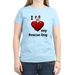I Love My Rescue Dog Women's Light T-Shirt