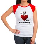 I Love My Rescue Dog Women's Cap Sleeve T-Shirt