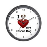 I Love My Rescue Dog Wall Clock