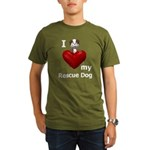 I Love My Rescue Dog Organic Men's T-Shirt (dark)