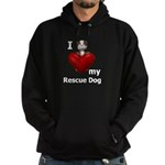 I Love My Rescue Dog Hoodie (dark)