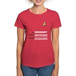 Star Trek 'Job Description' Women's Red Shirt