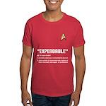 """Star Trek """"Expendable"""" Men's Red Shirt"""
