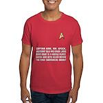 """Star Trek """"Who Dies?"""" Men's Red Shirt"""