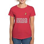 "Star Trek ""Who Dies?"" Women's Red Shirt"