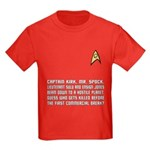 "Star Trek ""Who Dies?"" Kids Red Shirt"
