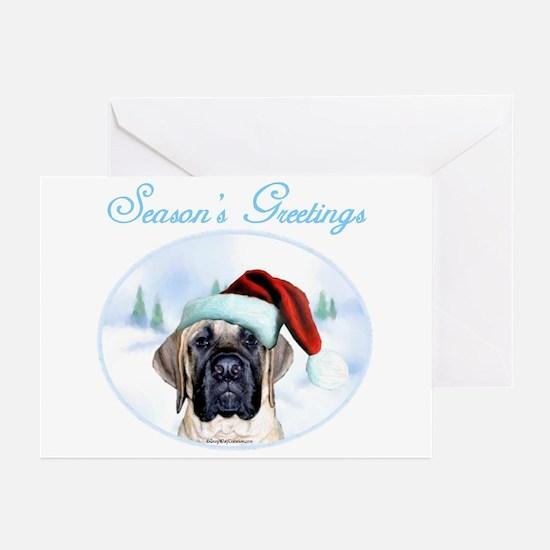 Mastiff XMas 20 Greeting Cards (Pk of 10)