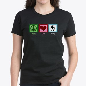 Peace Love Hiking Women's Dark T-Shirt
