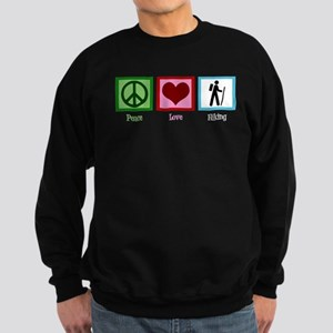 Peace Love Hiking Sweatshirt (dark)