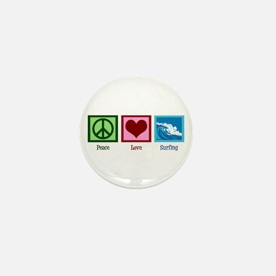 Peace Love Surfing Mini Button