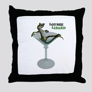 Lounge Lizard Throw Pillow