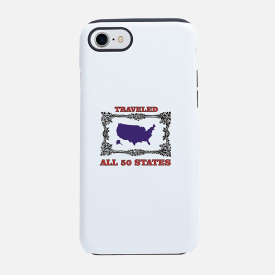 all fifty in blue iPhone 7 Tough Case