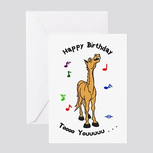 Singing Pony Birthday Card