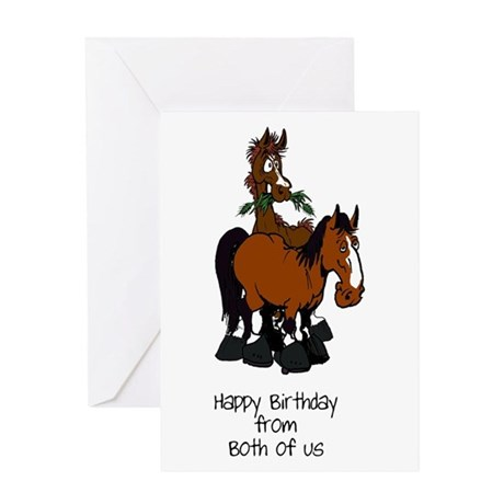 from both horse birthday card by horses by hawk