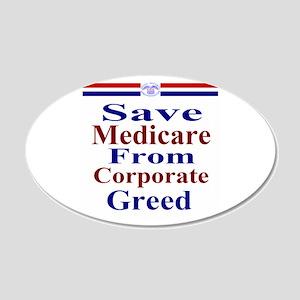 Save Medicare 22x14 Oval Wall Peel