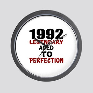 1992 Legendary Aged To Perfection Wall Clock