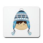 Cute Kid in Wooly Hat Mousepad