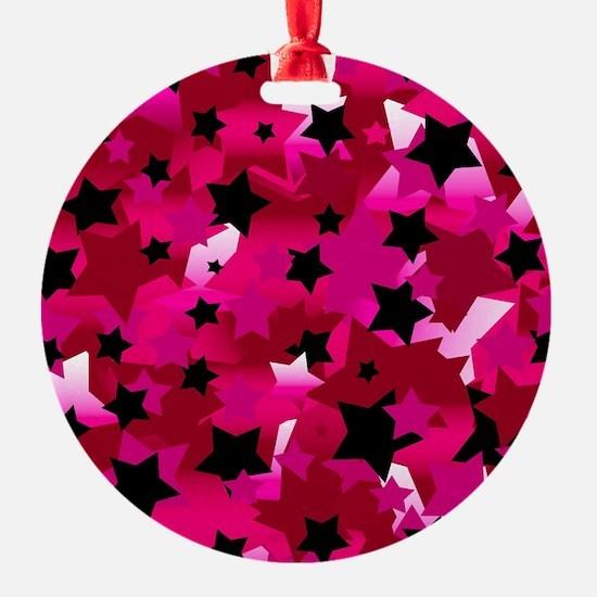 Punk Rock Stars Pink Ornament