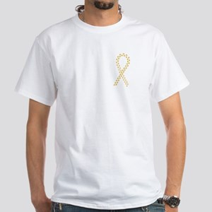 Gold Paws Cure White T-Shirt