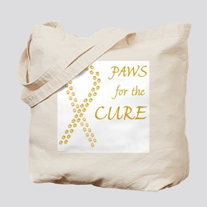 Gold Paws Cure Tote Bag