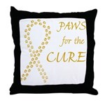 Gold Paws Cure Throw Pillow