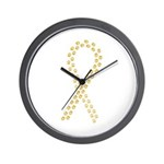 Gold Paws Cure Wall Clock