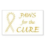 Gold Paws Cure Rectangle Sticker