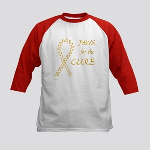 Gold Paws Cure Kids Baseball Jersey