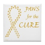 Gold Paws Cure Tile Coaster