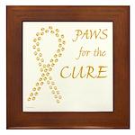 Gold Paws Cure Framed Tile