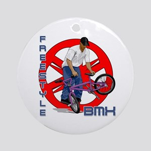 Freestyle BMX Ornament (Round)