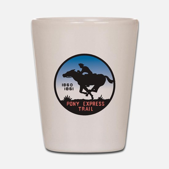 The Pony Express Shot Glass