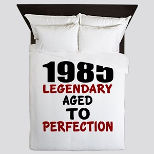 1985 Legendary Aged To Perfection Queen Duvet