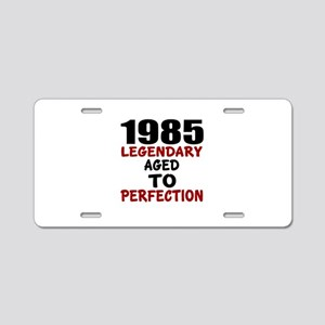 1985 Legendary Aged To Perf Aluminum License Plate