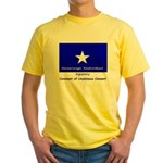 Bonnie Blue on Yellow T-Shirt