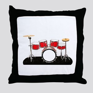 Drum Kit Throw Pillow