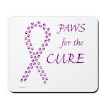 Purple Paws Cure Mousepad