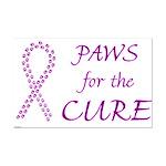 Purple Paws Cure Mini Poster Print