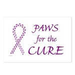Purple Paws Cure Postcards (Package of 8)