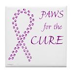 Purple Paws Cure Tile Coaster