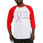 Purple Paws Cure Baseball Jersey