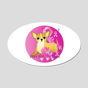 Chihuahua 22x14 Oval Wall Peel