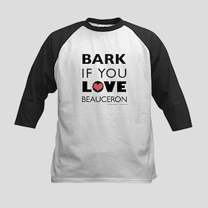 Bark if You Love Beauceron Kids Baseball Jersey