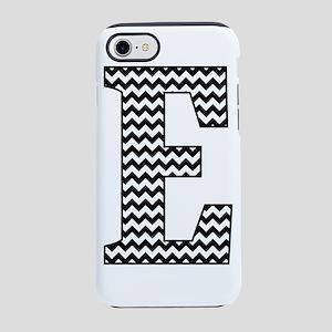 Black and White Chevron Letter E Monogram iPhone 7